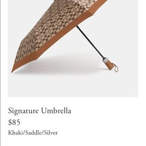 Brand New Coach Signature Umbrella